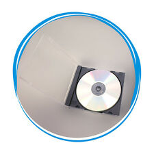 25 Standard 10.4mm Assembled Single CD DVD Jewel Cases Black Tray Hold 1 Disc
