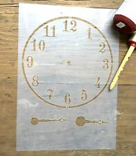 Clock Face Stencil, French Clock  Stencil, Vintage Clock Wall Art, Clock Decal