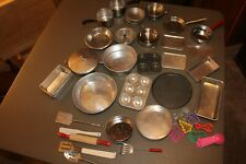Children's Play Dishes Over 40 Pans Utensils Baking Pans & More Aluminum
