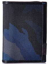 Tumi Mens Alpha  Gusseted Card Case With ID Blue Camo One Size Father's Day Gift
