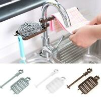 Telescopic Sink Storage Rack Sponge Drain Shelf Basket Kitchen Bathroom Tool NEW