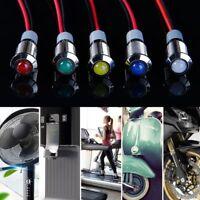 8mm Waterproof Metal LED Indicator Light Pilot Panel Signal Warning Lamp