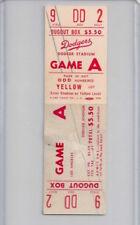 1962 LA Dodgers v. SF Giants NL Playoffs FULL TICKET WHITE VARIATION