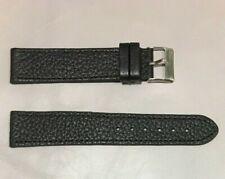 Pulsera Correa de Reloj Piel Legítima Cuero 20 mm Negro | Watchband 212