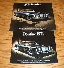 Original 1974 Pontiac Full Line Regular & Deluxe Sales Brochure 74 Firebird GTO