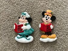 "VINTAGE Disney MICKEY & MINNIE MOUSE  ""TO MY DAD/MOM""  Ceramic Ornament 3"""