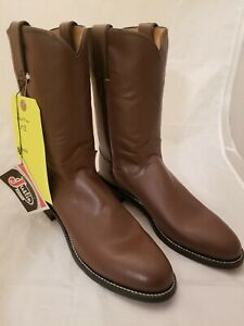 Justin Boots Western Boot Style #3404 Men's New Tan Kiddie Size 8 B