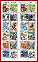 France 1993 Le plaisir d'écrire, feuille avec 2 bandes de 12 **MNH, YT 2836-2847
