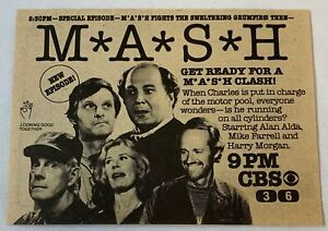 1981 CBS tv ad ~ MASH ~ Get Ready For A M*A*S*H CLASH