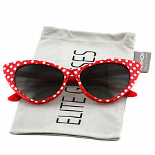 Retro Vintage Style Polka Dot Cat Eye Sunglasses Hollywood 50s/60s
