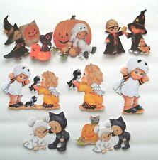 New listing 3D Upick Fall Halloween Boy Girl Ghost Witch Scrapbook Card Embellishment