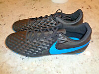 Nike Mens Tiempo Legend 8 Club FG Soccer Cleats Black/Blue AT6107-004, Mens Sz 9