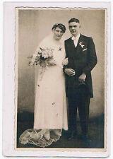 AK Hochzeitspaar Ansichtskarte ungelaufen um 1920  Postkarte Brautpaar Echt Foto