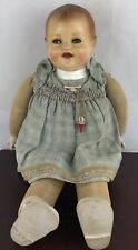 Vhtf 1938 Cloth celluloid head Raynal doll 17� Original