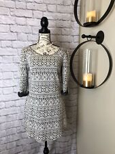 Maurices Black and White Casual Sweater Dress Medium