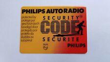 GENUINE & ORIGINAL PHILIPS AUTORADIO SECURITY CODE STICKERS - GM VAUXHALL - NEW!