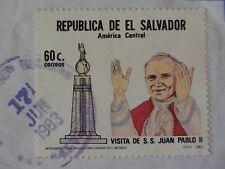 Briefmarke El Salvador 60c Besuch v. Johannes Paul II, abgestempelt 17.06.1983