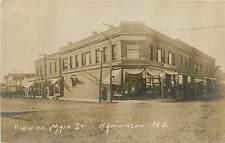 North Dakota, ND, Hankinson, Drugstore,  Main St 1908 Real Photo Postcard