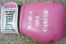 LARRY HOLMES Signed EVERLAST Knock Out Cancer BOXING GLOVE