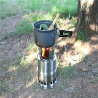 Portable Stainless Steel Outdoor Camping Survival Wood Burning Stove Alcohol 6L