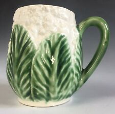 More details for fabulous vintage majolica cauliflower not cabbage shaped mug