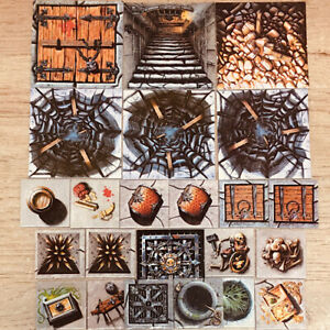 Classic Warhammer Quest Scenery Markers Full set x 23 Games Workshop 1995