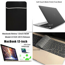 Laptop Rubberized Cover Sleeve Bag Shell+keyboard+Film for Macbook 12'' 2015 NEW