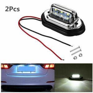 6LED Car License Plate Light Signal Tail Lamp 12V 24V High Brightness Waterproof