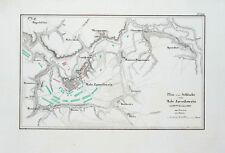 1857 Malojaroslawez Russia Napoleon Russlandfeldzug Kolorierter Kupferstich-Plan