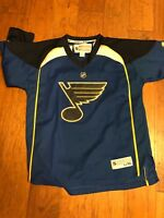 EUC Reebok Boy's St Louis Blues Jersey, Blue, Sz: Youth L/XL Free Shipping