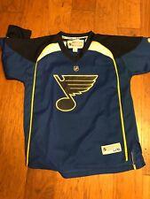 EUC Reebok Boy's St Louis Blues Jersey, Blue, Sz: Youth L/XL Free Shipping