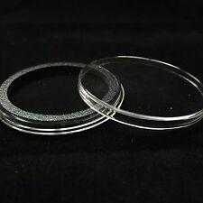 50 Airtite Coin Capsule Holders w BLACK Rings For Morgan, Peace & Ike Dollars
