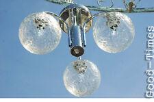 Lampe   70er Jahre Chrom  Deckenlampe Glas  70s