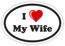 Oval Sticker - I Love My Wife - for Gas Tank Car Laptop Tool Box pc Helmet Door