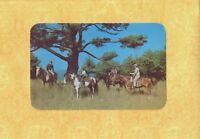 NY Lake George 1951 vintage postcard HORSE BACK RIDING New York to Hartford CT