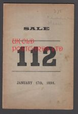 W. Hadlow, Auction Catalogue of Various Stamps, Chancery Lane, London, 1898.