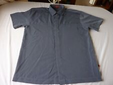 PETROLEUM SIZE L/48 BLUE POLYESTER SHORT SLEEVE CASUAL SHIRT
