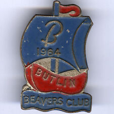 More details for butlins probably one of the rarest and inconspicuous butlins badges beaver 1964