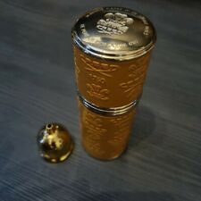More details for creed gold trim leather bound refillable atomiser, 50ml,  camel / gold rrp £200