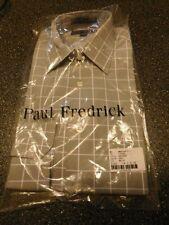 Paul Fredrick Blue Long Sleeve Button Front Shirt Size 14.5 -32 _________R11-3