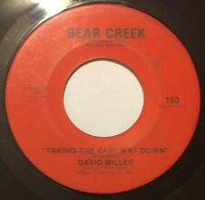 DAVID MILLER Taking The Easy Way Down 45 Bear Creek Memphis ssw psych hear