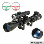 Pinty 3-9x40 Tactical Rifle Scope Crosshair Rangefinder Green Laser light Combo