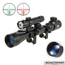 Pinty 3-9x40 Tactical Rifle Scope Crosshair Rangefinder Green Laser light Combo