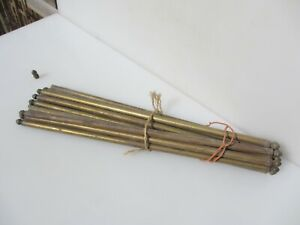 """Vintage French Stair Rods Tube Poles x14 21.5""""L"""