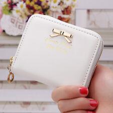 Women  Leather Wallet Zip Small Card Holder Coin Purse  Ladies Clutch Handbag