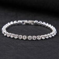 Silber überzogene Kristalle Tennis Armband Strass Diamond mit Swarovski Kristall