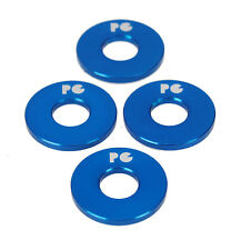"""Porkchop BMX ALUMINUM Bicycle Axle Washers for 3/8"""" axles - BLUE (SET OF 4)"""