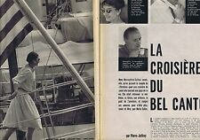 COUPURE DE PRESSE CLIPPING 1959 ARISTOTE ONASSIS - MARIA CALLAS  (14 pages)