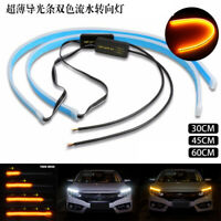 Sequential LED Strip Switchback Indicator Turn Signal Indicator Light DRL 45CM