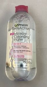 Garnier SkinActive Micellar Cleansing Water All-in-1 makeup removal 3.4fl oz